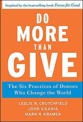 1 of 1 - Do More Than Give - Leslie R. Crutchfield Large Harcover 20% Bulk Book Discount