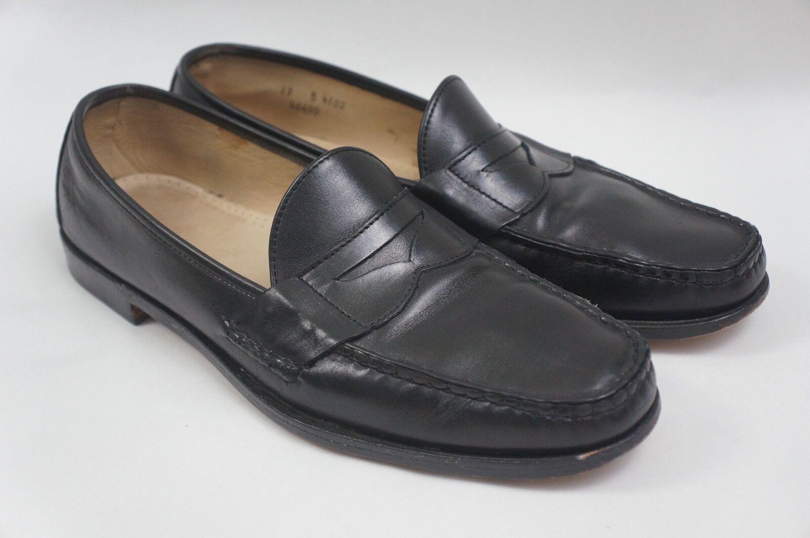 ALLEN EDMONDS HANOVER Homme Chaussures Taille 13 B Mocassins Noir
