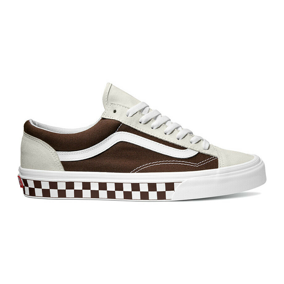 Vans Style 36 BMX Checker Board Sneakers shoes Brown VN0A3DZ3UD8 Size US 4-13