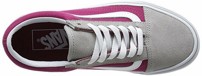 VANS Old Skool Drizzle/Sangria 5.5 Gray/Wine Suede Skate Donna Size 5.5 Drizzle/Sangria 3cb809