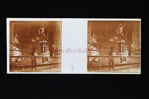 Italie Italia Firenze Florence Plaque Stéréo Pos.ca 1910 Facile à Lubrifier