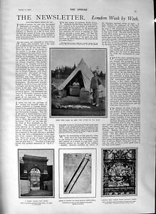 Old-Antique-Print-1901-Army-Post-Office-Veldt-Baden-Powell-Floods-Roberts-20th