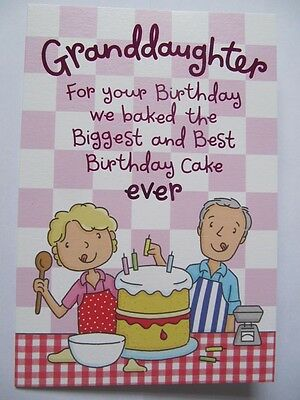 Remarkable Super Funny Baked The Biggest Cake Ever Granddaughter Birthday Funny Birthday Cards Online Fluifree Goldxyz