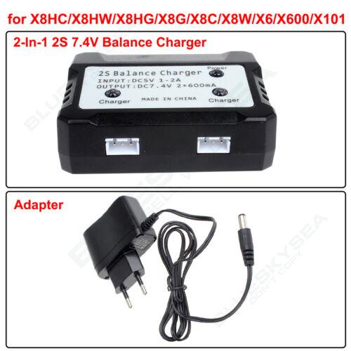 2 en 1 cargador de equilibrio de batería para Syma X8C X8W X8G Quadcopter