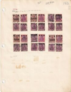 *GERMANY 2 ALBUM PAGES 1921 $120 SCV SPECIALIST COLLECTION LOT
