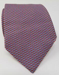 Cravatta-hermes-paris-100-pura-seta-tie-made-in-italy-original-rosso-red-tema