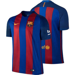 FC BARCELONA NIKE HOME JERSEY MENS L LARGE 2017 AUTHENTIC OFFICIAL ... 723fd4ae4