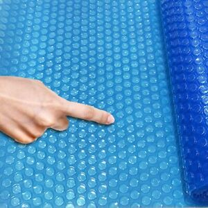 Pool Solar Cover Round Swimming Paddling Family Easy Fast Set 8/10/12/15ft ,Blue