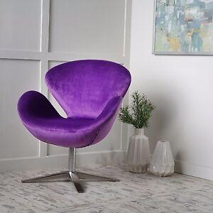 manhattan mid century modern design swivel swan accent chair ebay