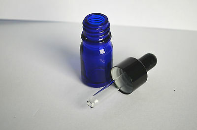 6,12pcs 10ml Blue/Green/Amber Glass Eye Dropper Bottles/Vials For Essential oil