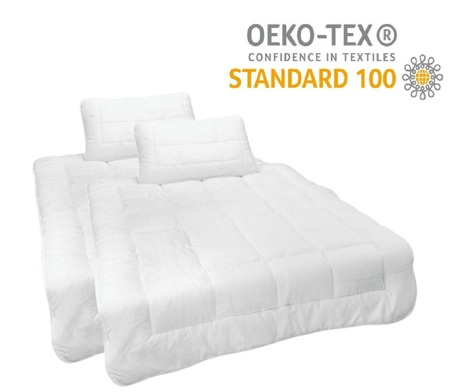 2x Kinder / Baby Bettdecke 100x135 Set + Kissen 40x60 Steppbett Decke Kopfkissen