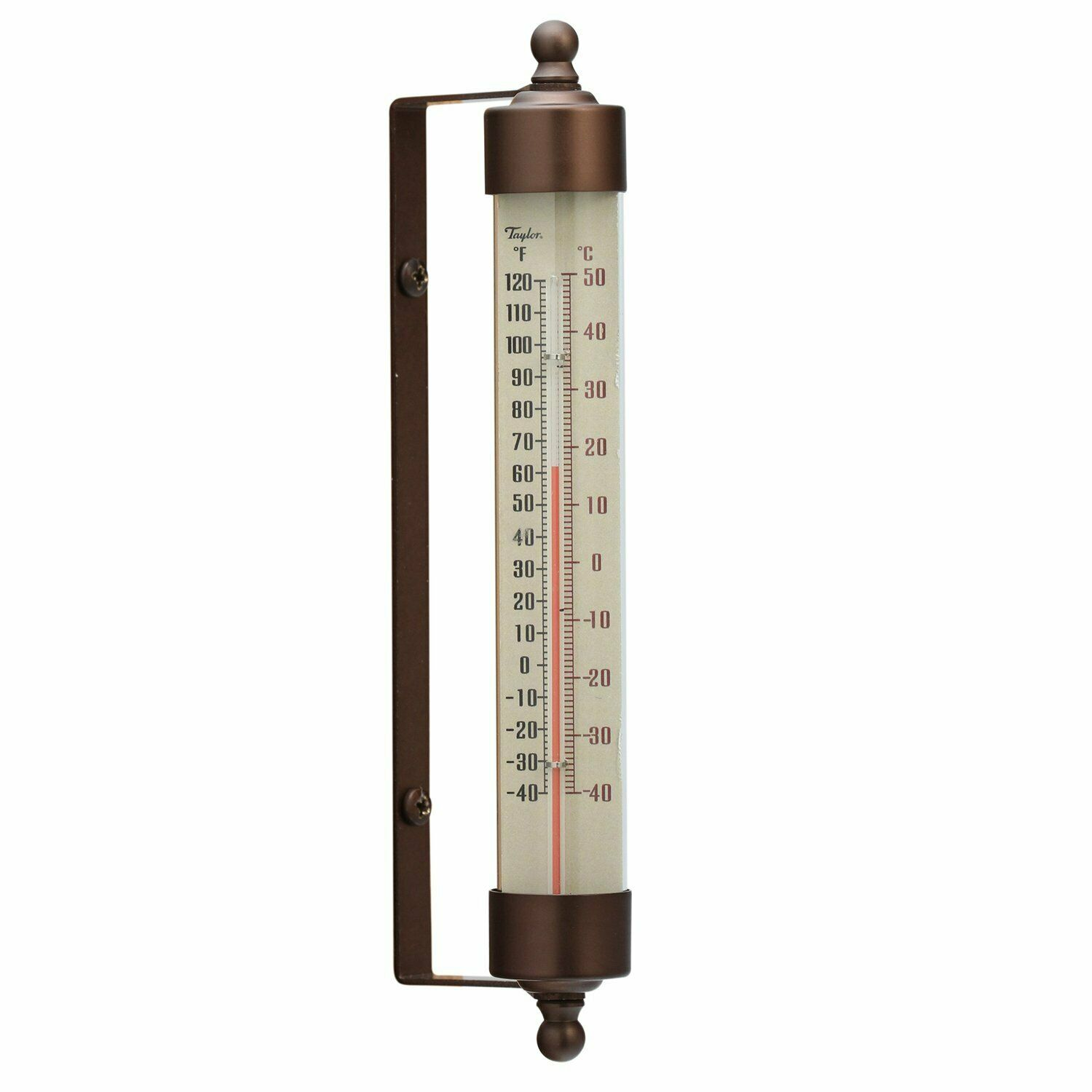 Taylor Precious Spirit-Filled Metal Vintage Outdoor Thermometer 7.5