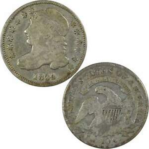 1834 Small 4 Capped Bust Dime VG Very Good 89.24% Silver 10c US Type Coin