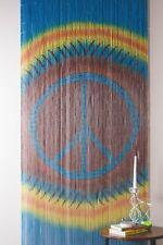 Bamboo Beaded Curtain Tie Dye Peace Sign Hippie Boho Bohemian Gypsie