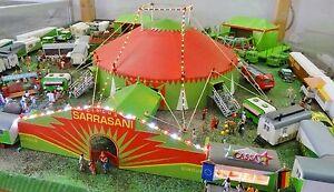 Circus-Sarrasani-Spur-H0-Circuszelt-Bausatz-fuer-Modellbahn-Anlage-Circus-etc