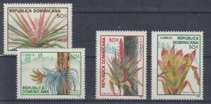 Plantes-Fleurs-Dominicaine-Republique-1551-54-MNH