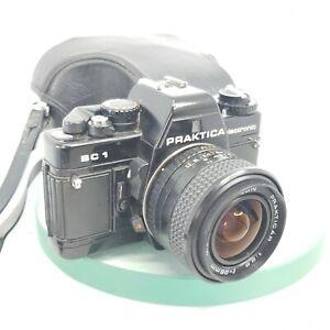 Praktica-bc1-Electronic-35mm-Filmkamera-Pentacon-Prakticar-28mm-Objektiv-Tasche-698