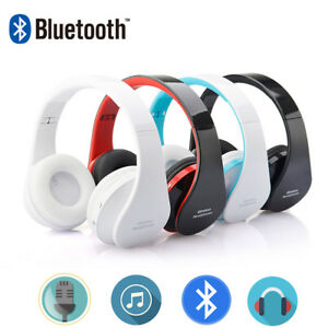 Foldable-Wireless-Bluetooth-Stereo-Headset-Headphones-Mic-for-iPhone-Samsung-Pad
