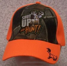 Embroidered Baseball Cap Hunting Deer Head NEW Orange /& Cammie 1 size fits all