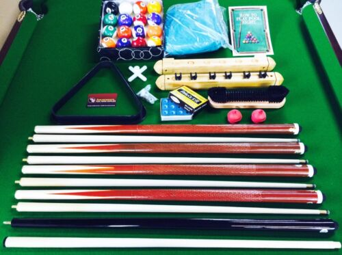 NEW Pool Cue Snooker Billiards Accessories Cue Balls Chalk Rack Cover Kit SALE