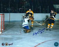 Autographed 8x10 WAYNE CARLETON  Boston Bruins photo - w/COA