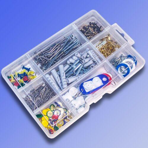 604tlg Haushaltssortiment Nägel Schrauben Haken Ösen Pinnadeln Schlüsselanhänger