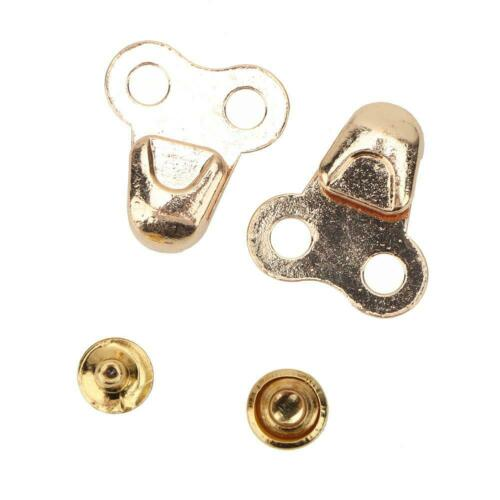 20Set Alloy Boot Lace Hooks Lace Fittings with Rivets for Repair//Climb Accessory