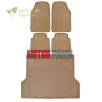 Odorless Hd Eco-tech Rubber Floor Mats Car Suv Truck W/ Cargo Liner Beige on sale