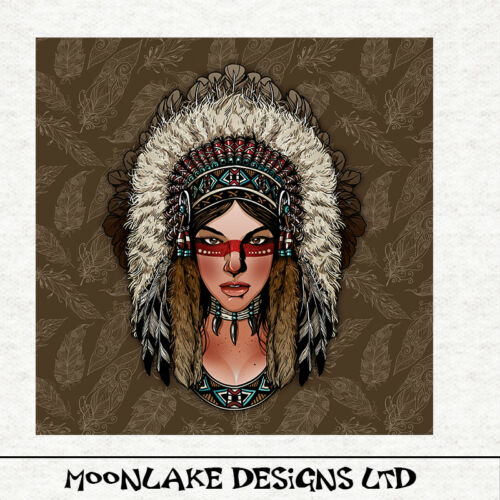 American Indian Sewing Upholstery Indian Female Gothic Fabric Craft Panel