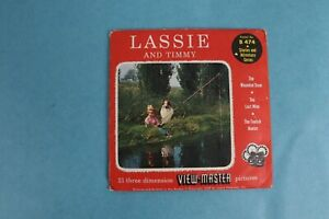 VINTAGE VIEW-MASTER 3D REEL PACKET B474 LASSIE AND TIMMY COMPLETE