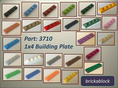 Lego Genuine Pack of 60 plates 1x4 Part number 3710 Choose your colour Job Lot