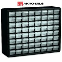 64 Drawer Plastic Storage Cabinet Electronic Components Hardware Parts Craft