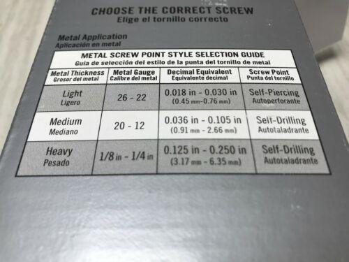 "186 PC Needle Sharp Point Trim Screws #6 x 2-1//4/"" 25-20 GA 1 LB"