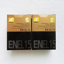 2 X EN-EL15 Battery For Nikon D810 D800 D750 D7000 D7100 D7200 V1 MB-D12 MB-D11