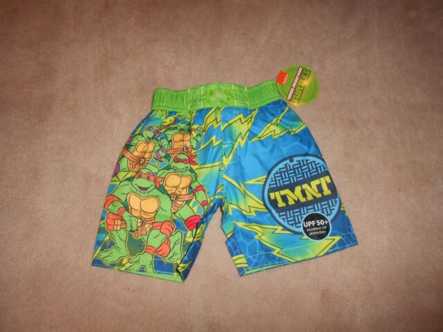 TEENAGE MUTANT NINJA TURTLES BOY/'S   SWIM TRUNKS  NWT UPF50 Size 4  6  or  7