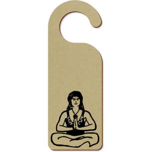 /'Meditating Woman/' 200mm x 72mm Door Hanger DH00002491