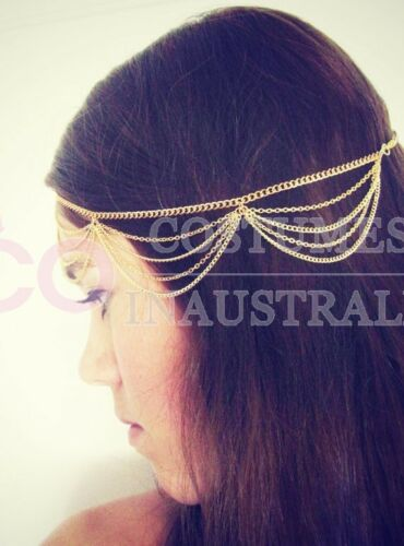 Deco Vintage Headband 20s Flapper Chain Headpiece Gatsby Bohemia Boho Goddess