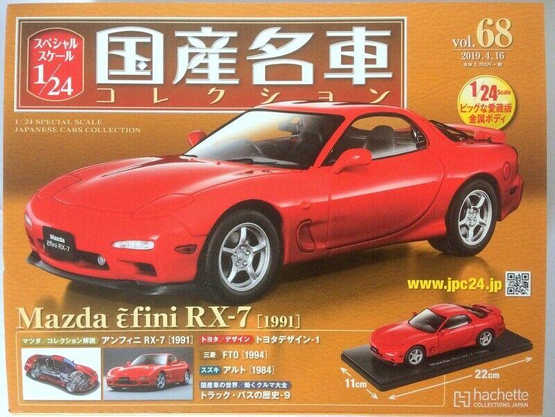 1 24 Japanese Cars Cars Cars Collection Vol.68 - Mazda εfini RX-7 (FD) [1991] Hachette dea8a9