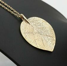 80a318f22fe Female Sweet Nature Fresh Elegant Gold Leaf Street Style Sweater Chain  Necklace