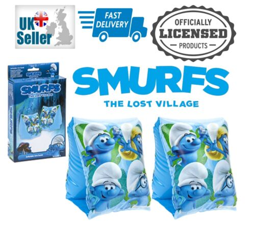 Smurfs The Lost Village Swim Inflatable Swimming Arm Bands Official Merchandise