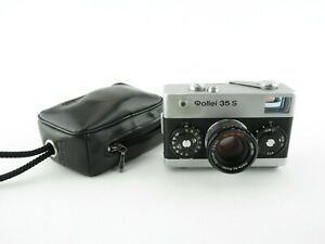 Rollei-35-S-Kompaktkamera-compact-camera-Sonnar-2-8-40-HFT-Tasche-case