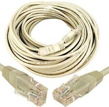 30m lungo RJ45 CAT5e 5E Rete Ethernet LAN Rete UTP CAT6 INTERNET ROUTER CAVO DI PIOMBO