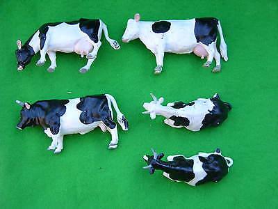 Vache Holstein Frise Noir Blanc Figure lait Barn Farm Animal BRITAINS