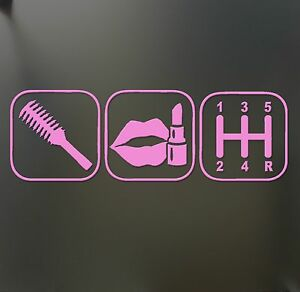 Brush Makeup Shift Girl Lipstick Sticker Funny Jdm Race