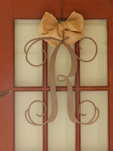 "DS1021 20/"" Vine Letter Monogram-Name Initial Letter-Front Door Decor-Metal Art"
