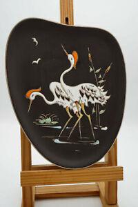 50er Vintage Placa de Pared Cerámica Hema handarbeit Decorativa Garza Grulla 40