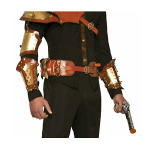Steampunk-Victorian-Armor-Faux-Leather-Utility-Belt-Adjustable-Costume-Accessory
