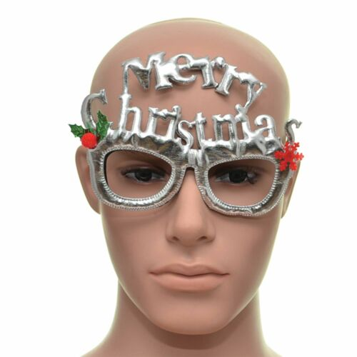 Silver Christmas Glasses One Size Specs Fancy Dress Novelty Party Accessories