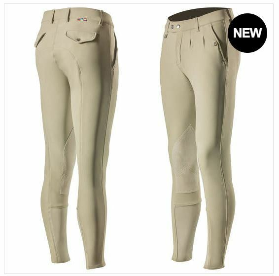 Horze  Grand Prix LIGHT BROWN Mens Synthetic Leather Knee-Patch Silicone Breeches  famous brand