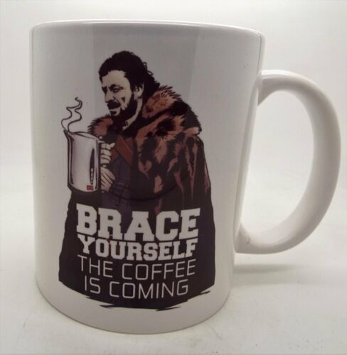 Brace yourself the coffee is coming ned stark game of thrones 11oz ceramic